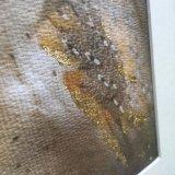 Gold Leaf detail on my artwork The Gilded Barn Owl
