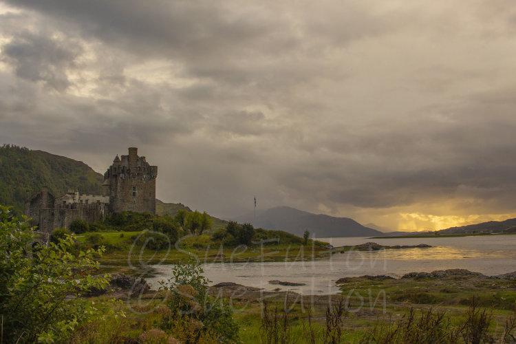 Eilean Donan Castle after the storm