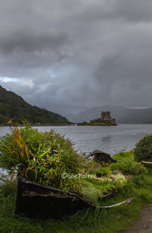 Eilean Donan Castle and The Boat, Dornie near Kyle of Lochalsh