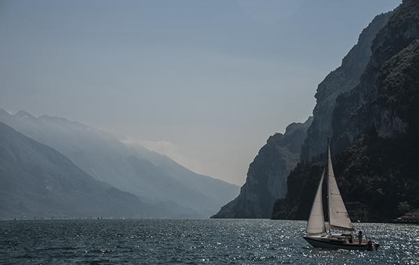 Leaving Riva del Garda, Lake Garda, Italy
