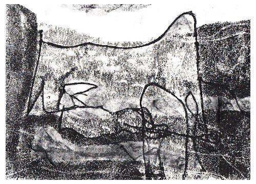 Landmarks-monoprint