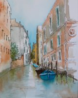 Blue Boats Venice