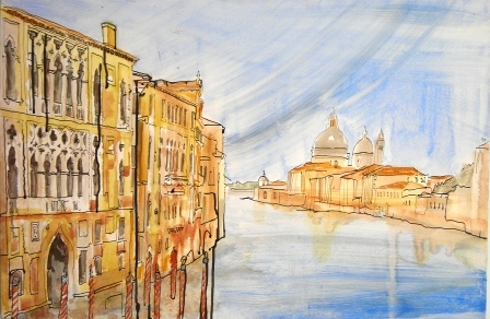 Thomas Plunkett RWS, Grand Canal, Venice, Oil on canvas                          Work available.