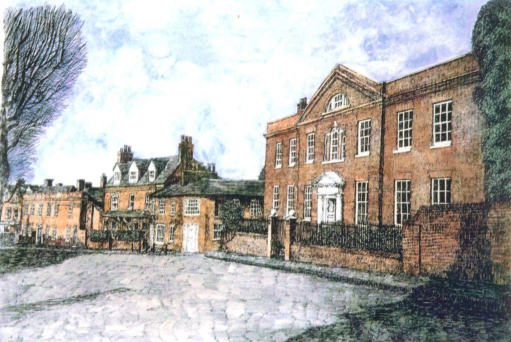 Thomas Plunkett PRWS, Romeland, St Albans, Hand Watercoloured Print.