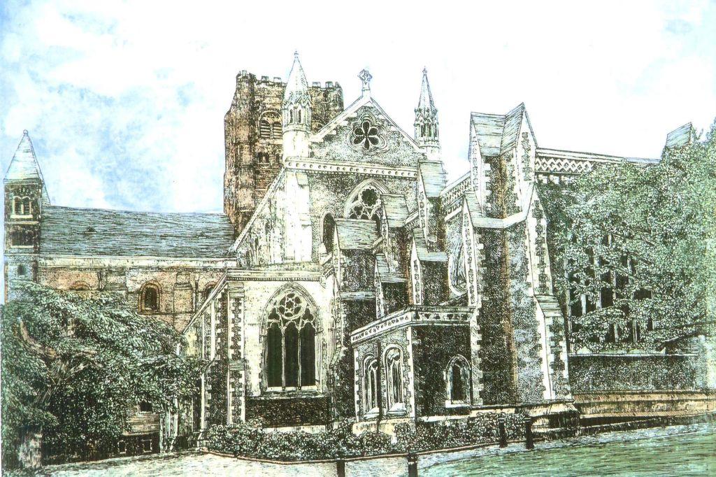 Thomas Plunkett PRWS, Romeland, St Albans, Hand Watercoloured, Limited Edition Print.