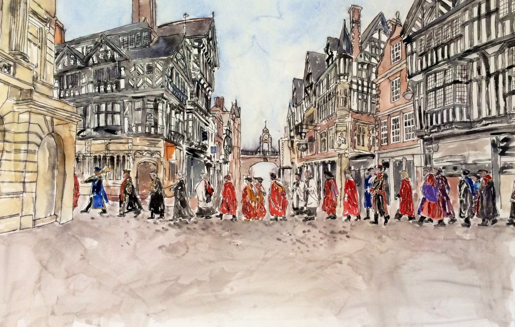 University of Chester, 175th Anniversary Procession,