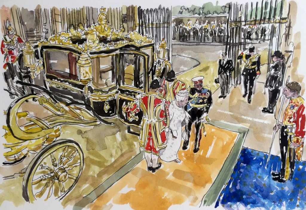 Arrival of HM Queen, State Opening of Parliament, Palace of Westminster