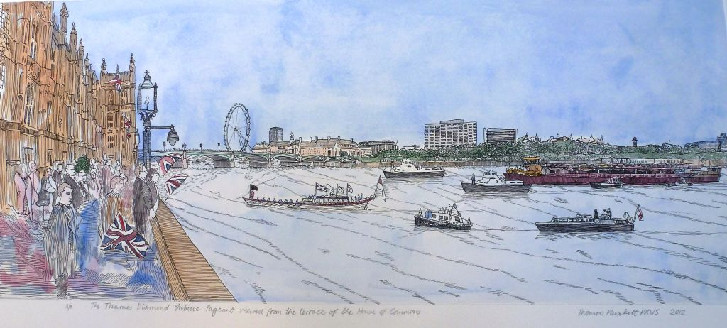 Diamond Jubilee Pageant Etching