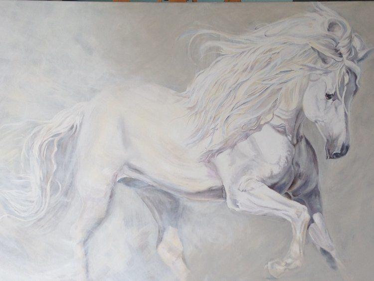 The Impressive White Horse