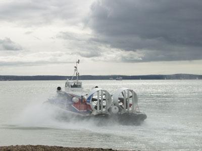 Hoovercraft leaving Southsea