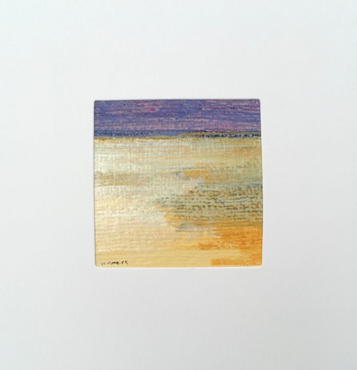 01YL £6.00 Tiny Original Painting enclosed in 5x5inches greeting card.