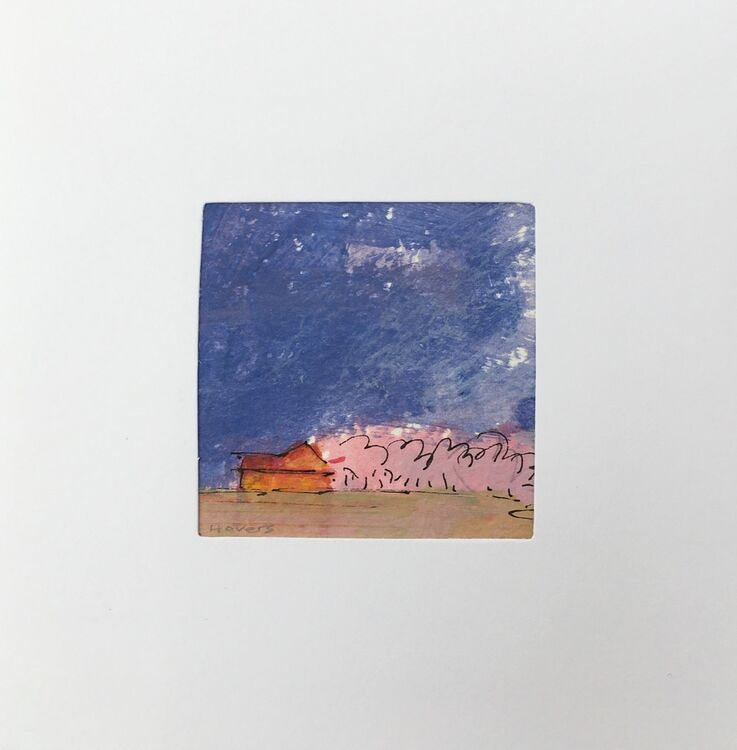 01BL £6.00 Tiny Original Painting enclosed In 5x5inches greeting card