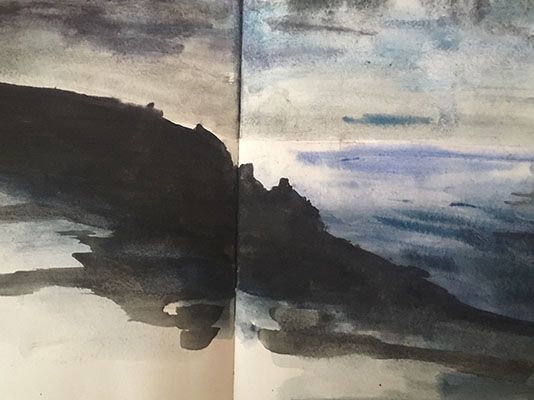 Watercolour Sketch Cornwall
