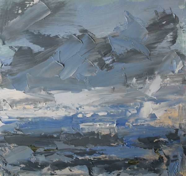 Blakeney Marsh, bright sky