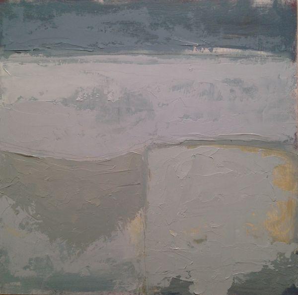 "Coastal Greys.  12"" x 12""  Oil on Board"