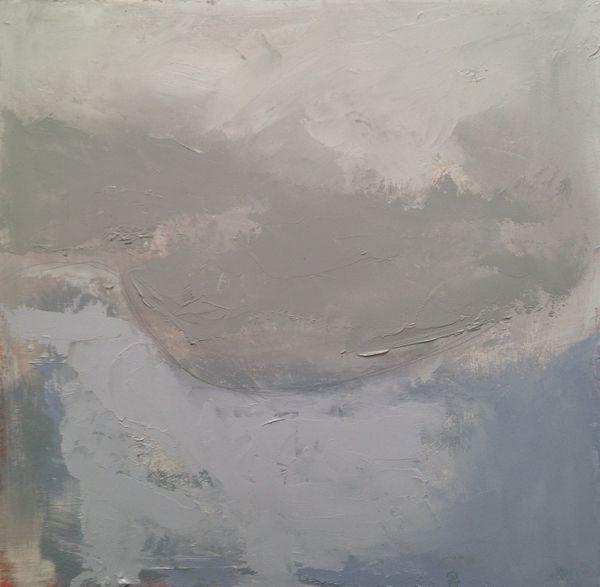 "Coastal Mist. 12"" x 12""   Oil on board"
