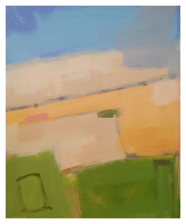 Corn Summer.  10in x 8in. Oil on Board