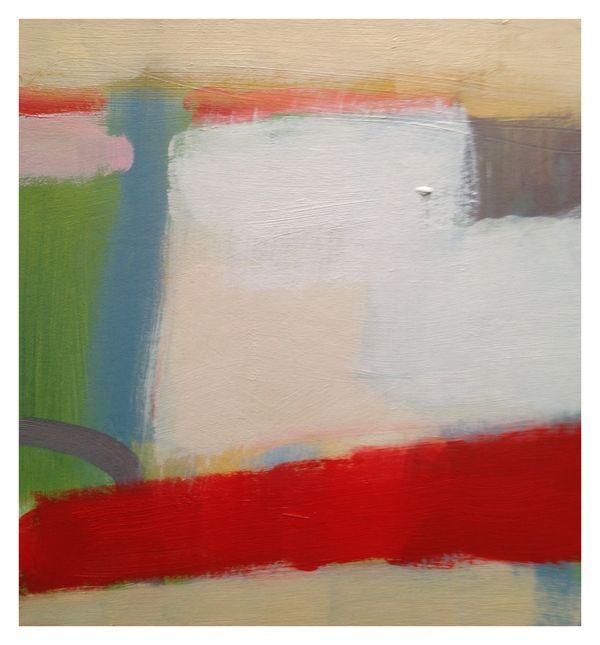 Field Frost. 20cm x 20cm. Oil on Primed Board