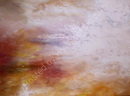 Sunset over the Estuary - Acrylic on Canvas