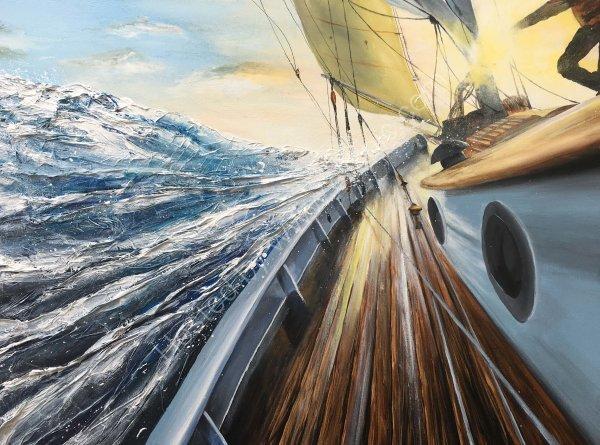 Slicing through the sea