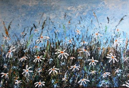 Field of Daisies - Acrylic on Canvas