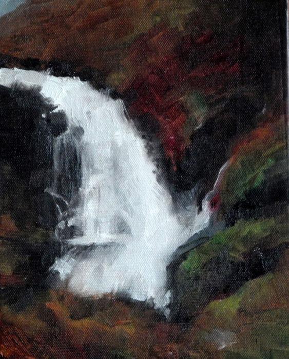 Fleeting waterfall
