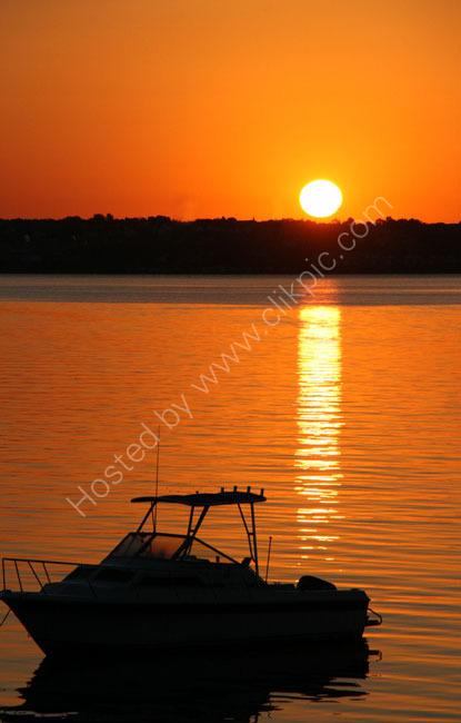 Sunrise over Mount Hope Bay