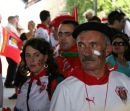 Biarritz rugby supporters