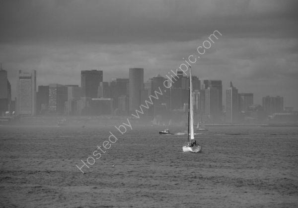 Boston Harbour, in the Mist