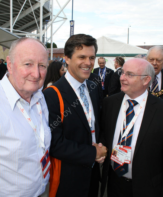 Tim Shriver and Ted Hughes MBE