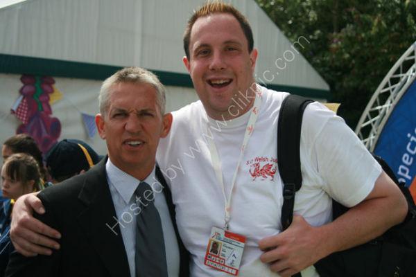 Gary Lineker and Athletes 5 (Craig Edwards, Judo, Wales)