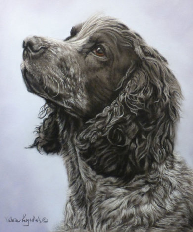 This is a black and white painting of Penny