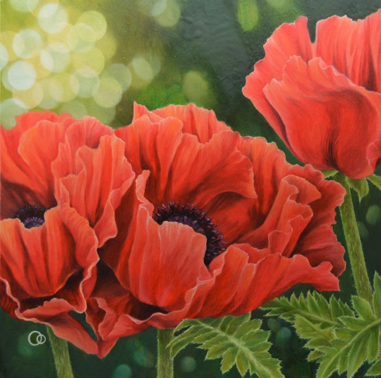 Nostalgia Red Poppies Oil Painting