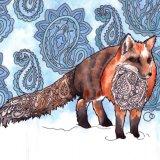 Nouveau Paisley Fox
