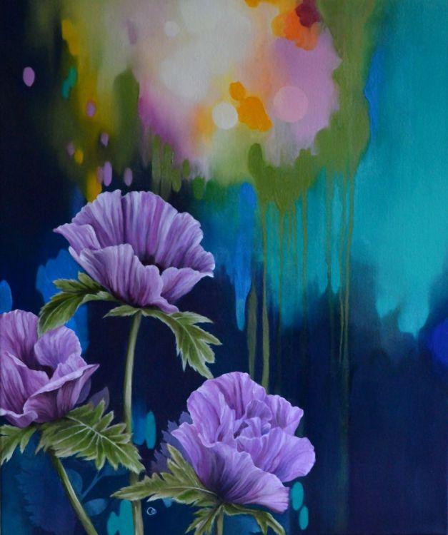 Oriental Poppies Oil Painting Flowers