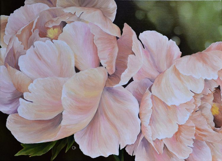 Peonies Oil Painting Floral Art