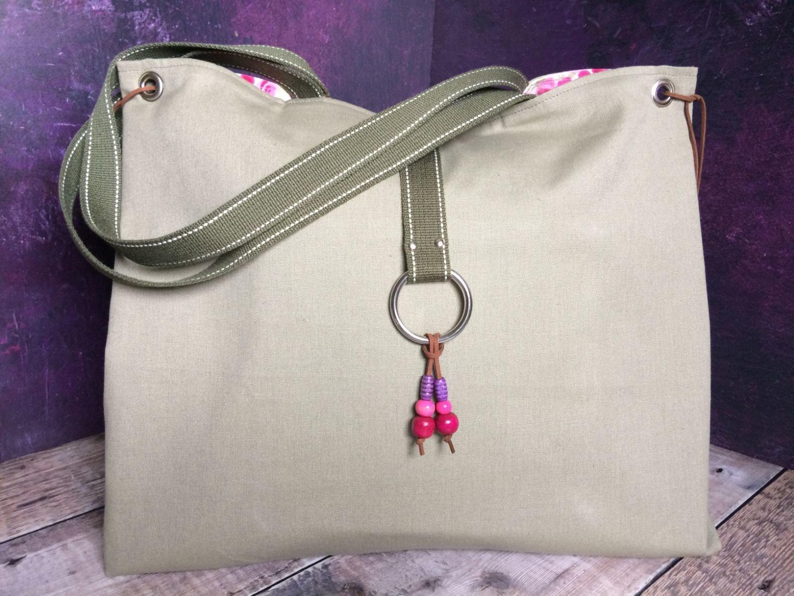 Khaki Tote Bag 'SOLD'