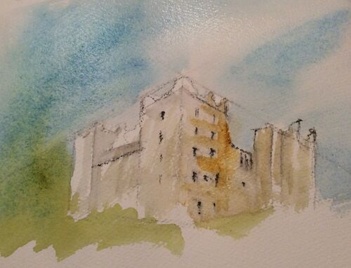 Watercolour zoom class- Perspective in buildings