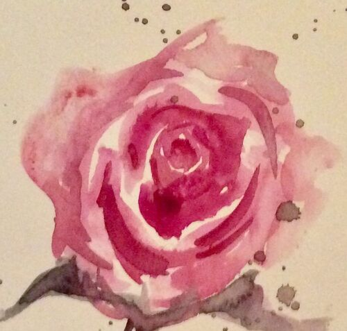 Watercolour zoom class- Roses