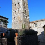 The medieval bell tower in Coreglia Antelminelli