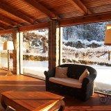 Snow outside garden room