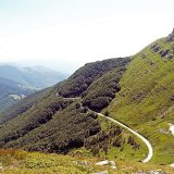 The road descending from Monte Giovo