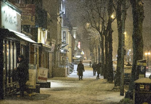 Belfast in the snow