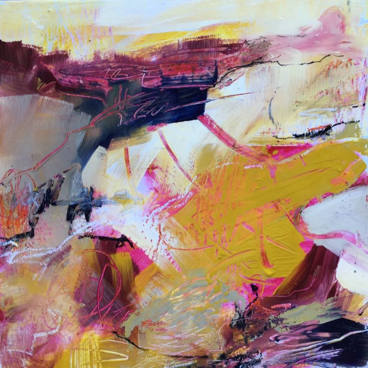 'Arabian Sunset'   45 x 45 cm