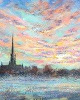 Salisbury Cathedral Dawn
