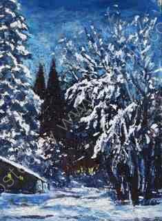 Snow scene in Bad Gastein, Austria