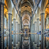 """Reflections of Salisbury Cathedral"""