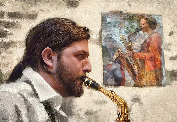 """Saxophone serenade"""