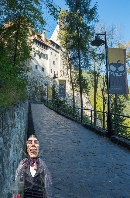 Bran Castle with the Ghost of Dracula