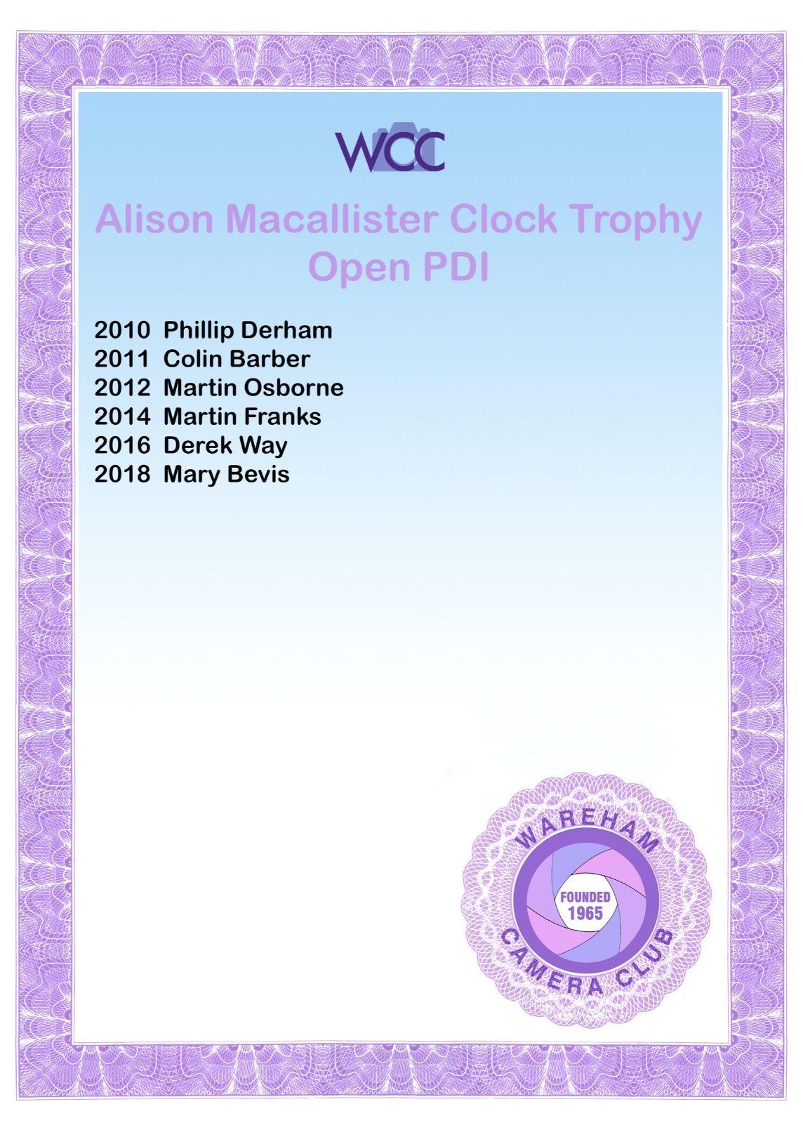 Alison Macallister Clock